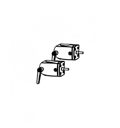 Ergotron DS100 Outboard Pole Clamps