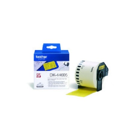 Brother DK-44605 Continuous Removable Yellow Paper Tape (62mm) Keltainen