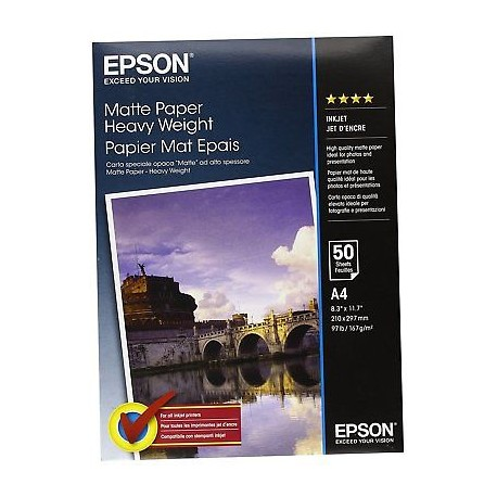 Epson Double-Sided Matte Paper, DIN A4, 178g/m², 50 sheets